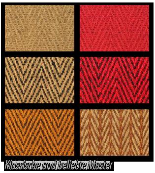 Fotos klassischeer und beliebter Muster von Teppichen für Kirchen und öffentliche Gebäude