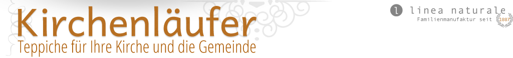 Kirchenläufer.de Logo, linea naturale, Familienmanufaktur seit 1887